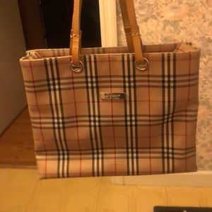 Burberry of London blue labeled tote